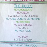 The NO Junk Food Challenge