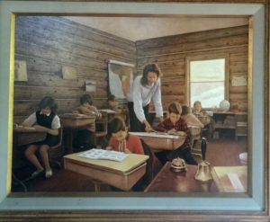 JoAnne teaching in her one room school